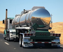 tanker truck in Winthrop WA